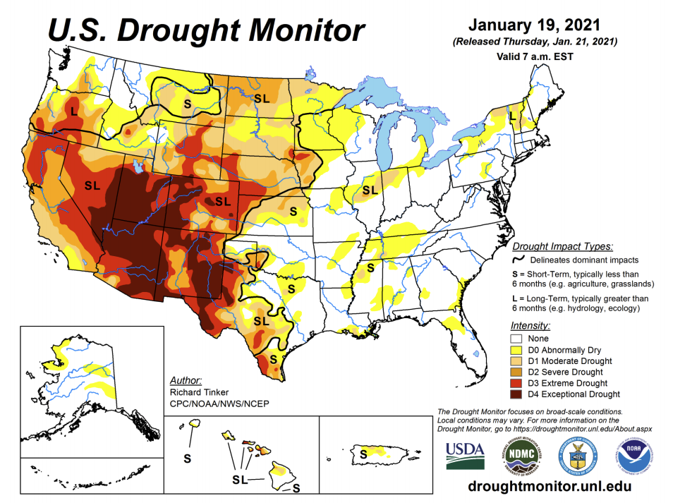 Drought Projections Depressing 2021 Vibes